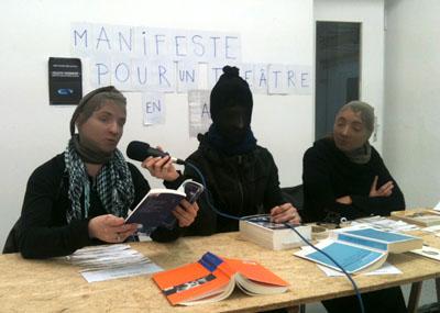 Conférence de presse à la galerie Agent Double ©Maya Boesch
