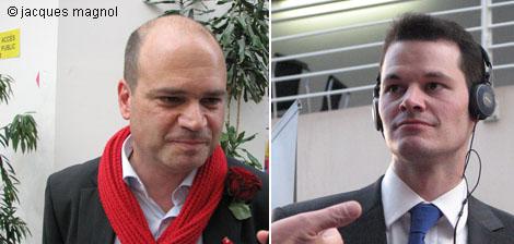 Sami Kanaan et Pierre Maudet, le 17 avril