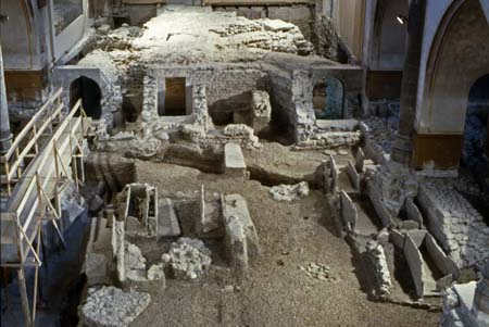 Fouilles, Temple de Saint-Gervais