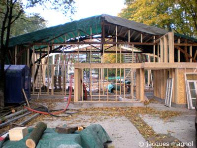 le théatre du galpon en construction