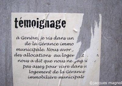 message sur un mur