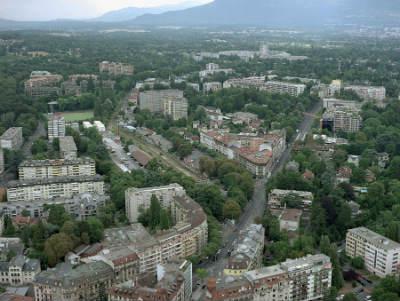 Vue aérienne : Alain Grandchamp /Documentation photographique / Ville de Genève.