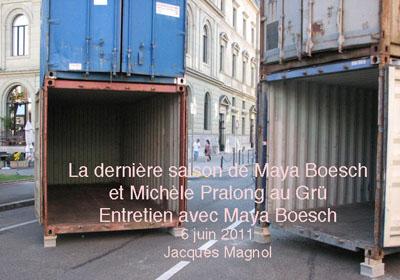 Grutli, containers dans la rue